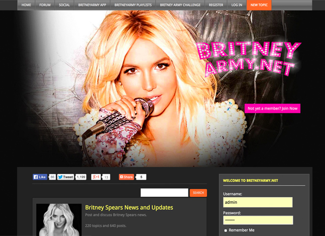 Britney Spears Army Website